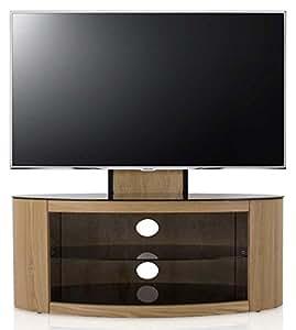 buckingham oak tv stand for up to 55 inch electronics. Black Bedroom Furniture Sets. Home Design Ideas