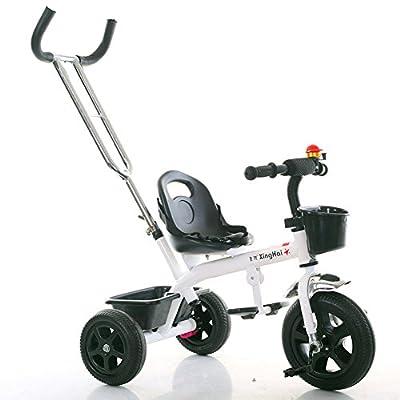 Strollers NAUY @ Triciclo Ligero para niños 1-3-6 años Carruaje para bebés Niños y niñas Bicicletas Cochecito para bebés con Putter Sillas de Paseo