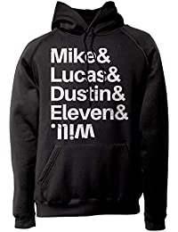 LaMAGLIERIA Sudadera Unisex Stranger Things - Mike   Lucas   Dustin    Eleven   Will - c05588420af2e
