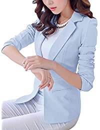 c319b3a25bee Mujer Manga Larga Blazers Y Chaquetas Trabajo Oficina Traje Slim Office  Blazer