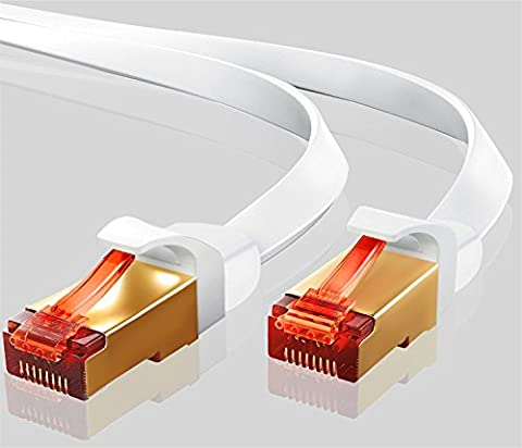 Ethernet Gigabit Lan Network Cable (RJ45) Advanced CAT 7 |Gold