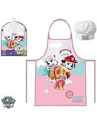Paw Patrol La Patrulla Canina Set de cocina infantil, delantal y gorro cocinero (Suncity PPB101865)