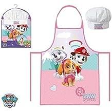 Paw Patrol La Patrulla Canina - Set de cocina infantil, delantal y gorro cocinero (Suncity PPB101865)