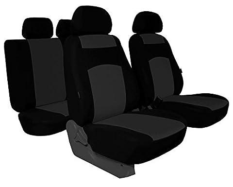 Housses de siège Classic Plus compatible avec les modèles Peugeot–universel Housse de siège en tissu pour sonderpreis. dans cette annonce Gris (Disponible en 5couleurs dans d