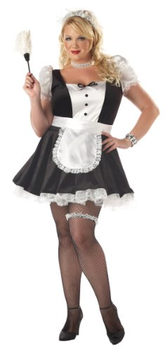 French Maid Outfit (Plus Size) - Dress 18 to (Outfit Maid Plus Size)