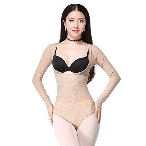 GLJJQMY Belly Dance Hot Drill Tops Einteiliges Kleid mit indischem Tanz Tanzkleid (Size : L)