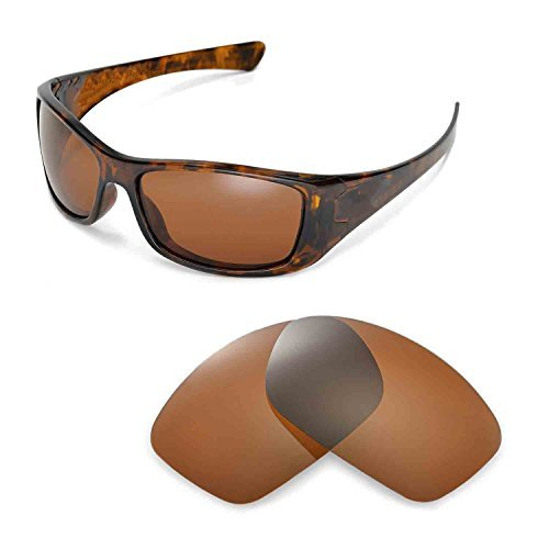 Walleva Ersatzgläser für Oakley Hijinx Sonnenbrille -Mehrfache Optionen (Braun - polarisiert)