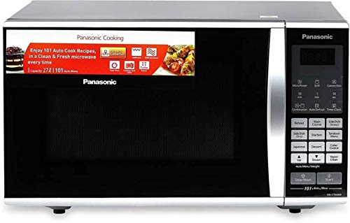 Panasonic 27L Convection Microwave Oven(NN-CT644MFDG,Black, Vapour Clean) with Starter Kit