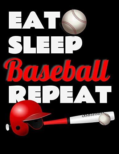 Eat Sleep Baseball Repeat. Notebook for Baseball Fans. Blank Lined Planner Journal Diary. por BBD Gift Designs