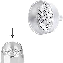 ORYX Filtro Cafetera Inducci/ón 12 Tazas Aluminio Plateado 9x9x3 cm