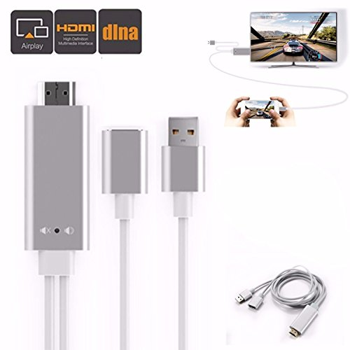 Preisvergleich Produktbild HDMI Adapter,  M.Way AluminHDMI Adapter,  M.Way Aluminium MHL zum HDMI adapter,  AV zum HDMI 1080P Kabel Adapter,  3 in 1, Plug und Play ,  AirPlay Mirroring / HDTV Adapter,  für iPhone 7 / 7 Plus,  6S / 6S Plus / 6 / 6 Plus,  5 / 5C / 5S / SE,  iPad,  Appleium MHL zum HDMI adapter,  AV zum HDMI 1080P Kabel Adapter,  3 in 1, Plug und Play ,  AirPlay Mirroring / HDTV Adapter,  für iPhone 7 / 7 Plus,  6S / 6S Plus / 6 / 6 Plus,  5 / 5C / 5S / SE,  iPad, iPod,  Apple