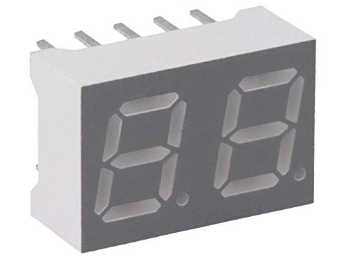 4x OPD-S4030G-BW Display LED 7-segment 10.16mm green 5mcd anode No.char1