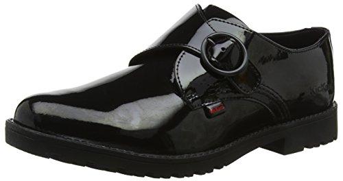Kickers Mädchen Lachly Monk Strap Patent Mary Jane Halbschuhe, Schwarz (Black 0001), 38 EU (Black Patent Mary Jane)