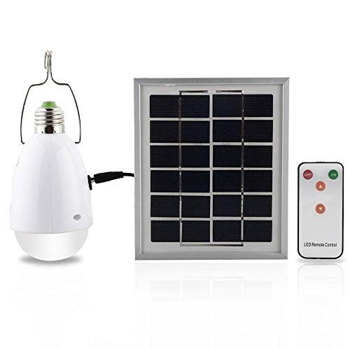 Mabor Solarleuchten LED Taschelampe Aufladbar LED für den Außen Camping - Dimmbar Fernbedienungskontrolle -Solarbetrieben und solarbewegungslicht