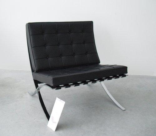 Barcelona Sessel / Mies van der Rohe / Knoll International / Leder schwarz / Designklassiker von Klingenberg