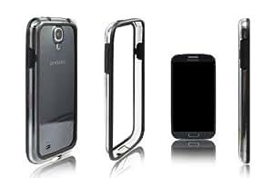 Xcessor Bumper Coque Pare-chocs Étui Classique Pour Samsung Galaxy S4 i9500. Caoutchouc & Plastique. Noir / Transparent