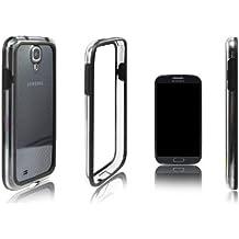 Xcessor Bumper Funda Carcasa Clásico Para el Samsung Galaxy S4 i9500. Caucho y Plástico. Calidad Superior Con un Estilo. Negro/Transparente