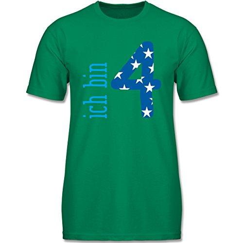 g Kind - Ich Bin 4 Blau Junge - 104 (3-4 Jahre) - Grün - F140K - Jungen T-Shirt (Oster-shirts Für Jungen)