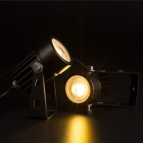 TTAototech LED Landschaft Solar-2ST Spot-Lichter 3000K Wasserdichte Outdoor-Solar-Spotlight für Hinterhof Auffahrt Patio Gärten Rasen Dämmerung bis Dämmerung Auto Ein Aus - Outdoor-spot-licht-solar