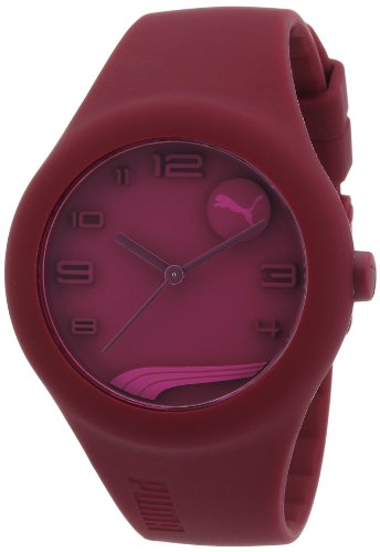Puma Form Unisex Quartz Watch with Purple Dial Analogue Display and Purple Silicone Strap PU103001004