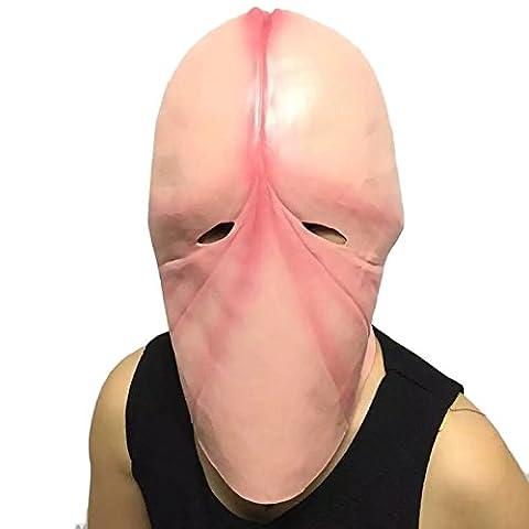 Mask Loveso Halloween Party Mischief Maske Mouthless Dick Man Horror Terror Masken (A) (Vampir Kostüm Diy)