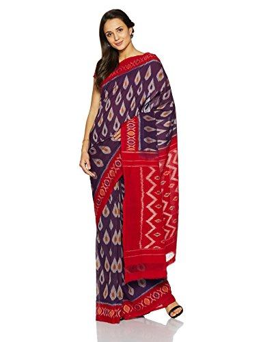 IndusDiva Pochampally Ikat Pure Cotton Handloom Saree (BLR1900004_Blue_One Size)