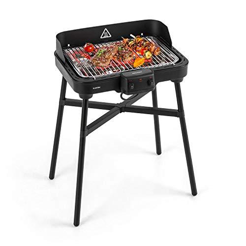 KLARSTEIN Grillkern Elektrogrill - Tischgrill, Standgrill, 1900 + 800 Watt, 400 °C Grilltemperatur, 3 Hitze-Zonen, Doppelheizelement, ReflectorBoost, platzsparend, ideal für Steak, schwarz