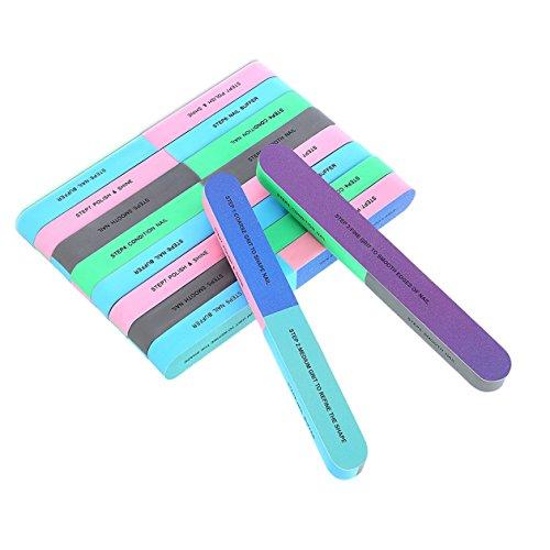 Buffing Block-datei (12Blöcke Nagelfeile und Puffer Block, 7Möglichkeiten Nagelfeile Buffer Block, Schleifklotz Dateien Art Maniküre Werkzeuge)