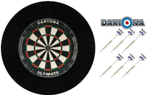 Dartset Dartona Ultimate Pro - Board + Pfeile + Surround in Schwarz