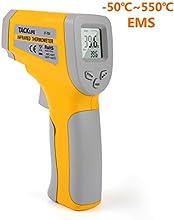 Tacklife IT-T04 Termómetro infrarrojo digital Termómetro láser sin contacto -50 ? ~ 550 ? Pistola de temperatura con emisividad ajustable, monitorización de la batería y visualización máxima / mínima / media