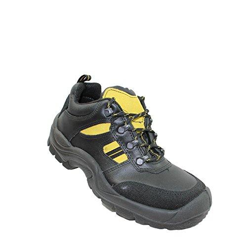 Jal group s3 chaussures de travail chaussures chaussures berufsschuhe businessschuhe plat noir Noir