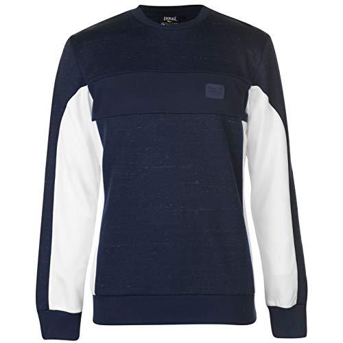 Everlast Herren Bronx Rundhals Pullover Pulli Marinefarbe XL -