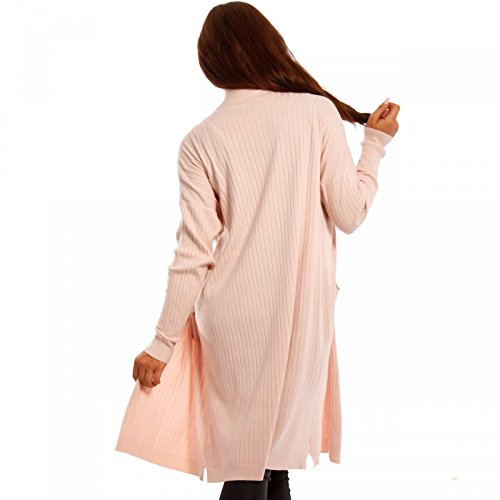 Made Italy - Gilet - Cape - Uni - Manches Longues - Femme Rose
