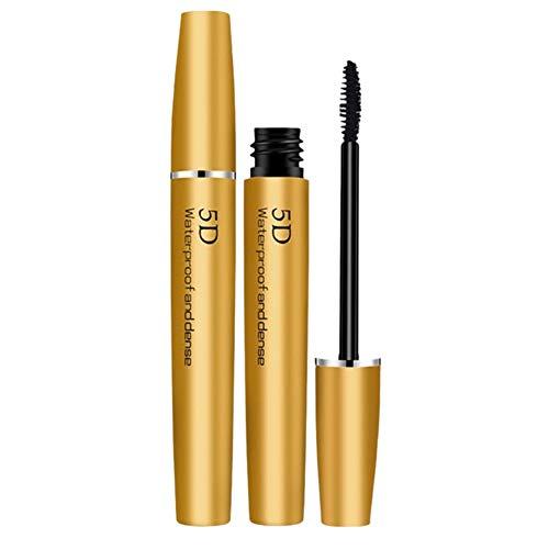 Allbesta 5D Silk Gold Fiber Wasserfest Wimperntusche Wimpernverlängerung Make-up Eyelash Lengthening Volume Dense Mascara Not blooming -