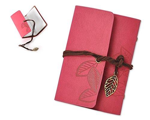 Fuji 8 Mini Film (DSstyles PU Leder Fotoalbum Fotoalben Fotobuch Fotohülle Klarsichtfächern Buchalbum Kartensatz Kartenfächer Kartentasche Kartenhüllen für Fuji Instax Mini 7S/ 8/ 25/ 50S/ 90 Filme - Rot)