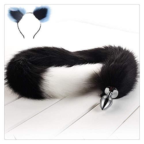 Z-one Haarreif mit Katzenohren und Katzenohren, 78 cm, flauschig, für Rollenspiele/Kostümpartys, ()
