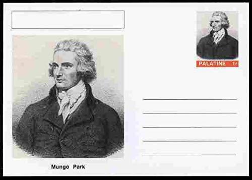 Palatine (Fantasy) Personalities - Mungo Park (explorer) postal stationery card unused and fine PERSONALITIES EXPLORERS SCOTS SCOTLAND JANDRSTAMPS Explorer Parka