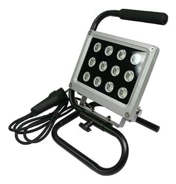 led strahler 12w ip44 baustrahler baulampe beleuchtung. Black Bedroom Furniture Sets. Home Design Ideas