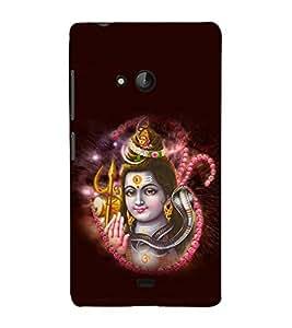 printtech Lord God Om Namah Shivaya Back Case Cover for Nokia Lumia 540::Microsoft Lumia 540