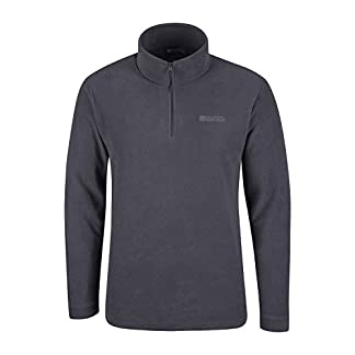 Mountain Warehouse Mens Camber Fleece Top - Lightweight Top, Breathable Sweater, Quick Drying Pullover, Extra Ventilation - Ideal for Winter Walking 14