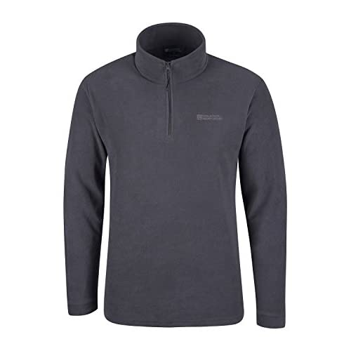 41opj0nFsFL. SS500  - Mountain Warehouse Mens Camber Fleece Top - Lightweight Top, Breathable Sweater, Quick Drying Pullover, Antipill Vest, Extra Ventilation - Ideal for Spring Walking