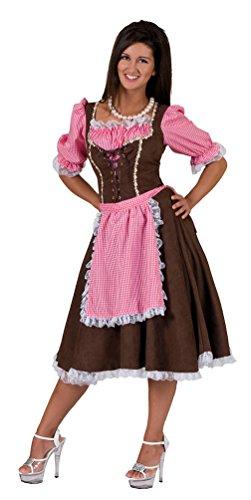 Kostüm Fasnacht Traditionelle - Karneval-Klamotten Kostüm Dirndl Damen Mia traditionell Oktoberfest Trachten-Kleid Damen Dirndl midi Bayern-Kleid Tirolerin Damenkostüm 48/50
