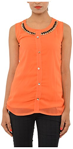 StyleU Women's Chiffon Top (Orange)