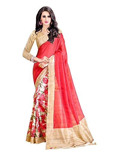 Trendz Cotton Silk Saree (Tz_Sanskruti_Red)
