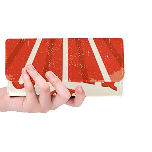 Einzigartige benutzerdefinierte Kanada Vintage Old Poster kanadische Flagge Frauen Trifold Wallet Lange Geldbörse Kreditkarteninhaber Fall Handtasche