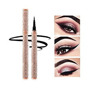 Diamond Delineadores Eyeliner Pen Waterproof Black Precision Micro Eye Liner Liquid Pen Quick Drying Lápiz de maquillaje…