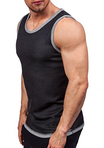 BOLF Herren Tanktop T-Shirt Ärmellos Muskelshirt Classic ATHLETIC 0489-1 Schwarz