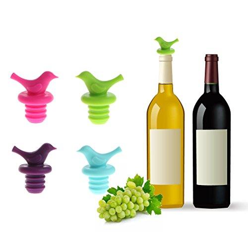 showkingL Niedlichen Vogel Form Silikon vakuumversiegelt Champagner Getränke Wein Stopfen Flaschenverschluss