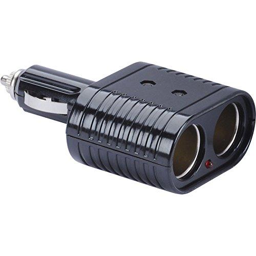 Preisvergleich Produktbild HR GRIP 2-fach KFZ-Ladegerät mit hoher Ausgangsleistung & Status-LED [8 Ampere | Ausgang 12V & 24V geeignet | Designed in Germany] - 11010111