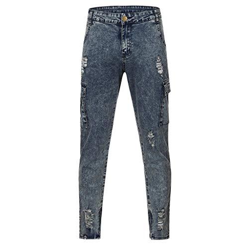 Dasongff Hose Herren Jeans Groß Größe Freizeithosen Männer Hosen Slim Fit Distressed Jeans-Hose Trekkinghose Casual Trainingshose Sporthosen Vintage Trousers -